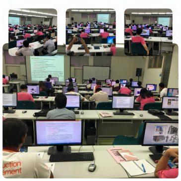 บรรยากาศการเรียนการสอนรายวิชา 554634